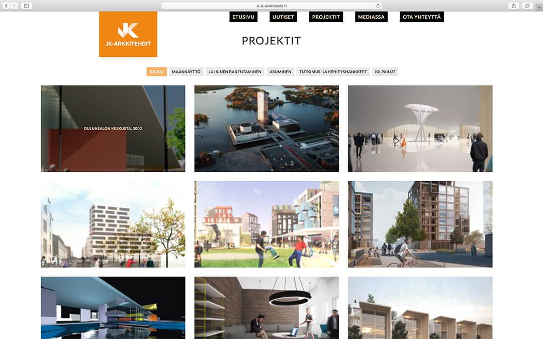 JK-Arkkitehtien www-sivut