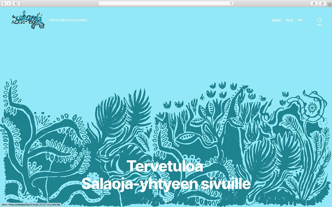 Salaoja-yhtyeen www-sivut